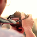 retrato de Jesus, câmera fotográfica