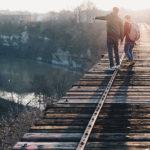 conselhos, trilho, trem, pessoas, direção, Deus