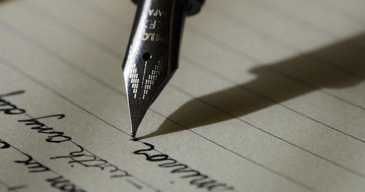 tema surpreendente, carta, caneta, papel